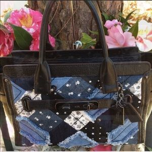 Coach Canyo Quilt Denim Swagger 38075